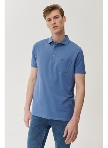 Beymen Business Comfort Fit Düz Tişört 4BX482020019 Mavi